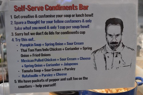 Condiments instructions