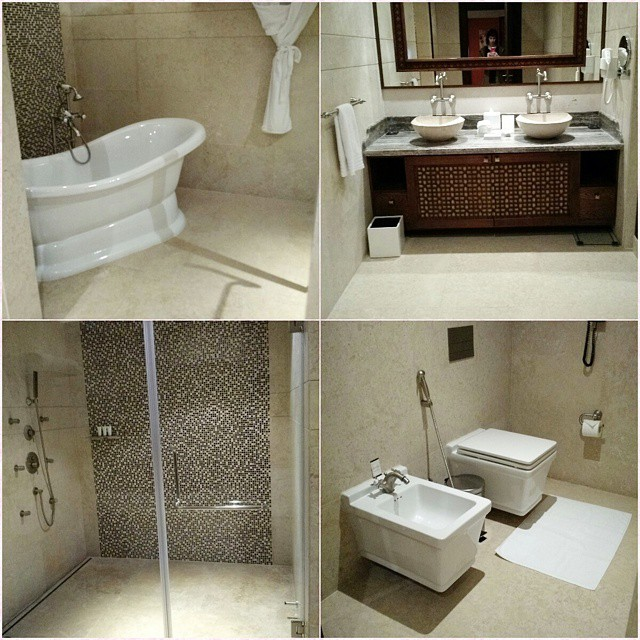 This is my bathroom in Doha. #travel #doha #qatar #hotel #luxury