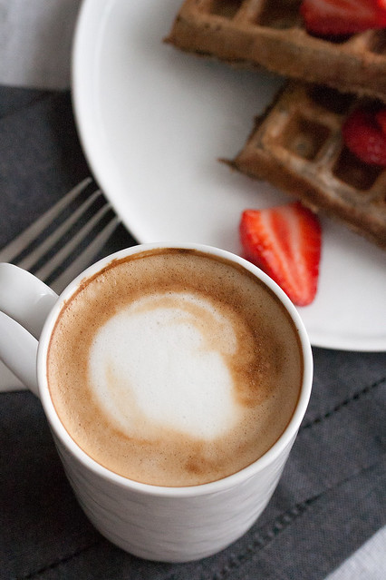 Latte and Waffles