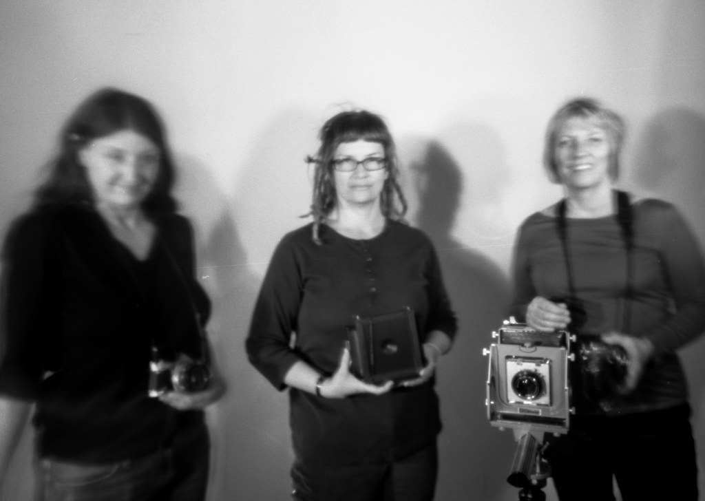 women and their cameras (pinhole)