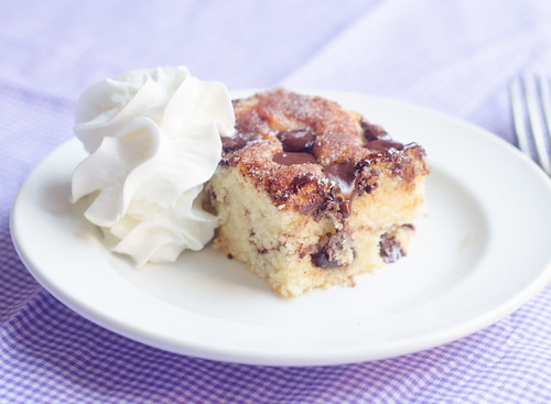 Cinnamon-Chocolate Chip Snack Cake