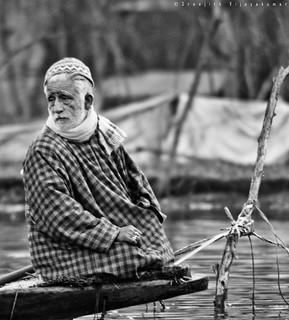Floating market, Kashmir