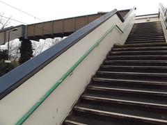 Marston Green Station - stepped footbridge