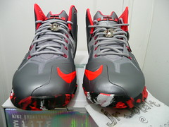 Nike LEBRON 11 ELITE TEAM - Wolf Grey Size 10+5