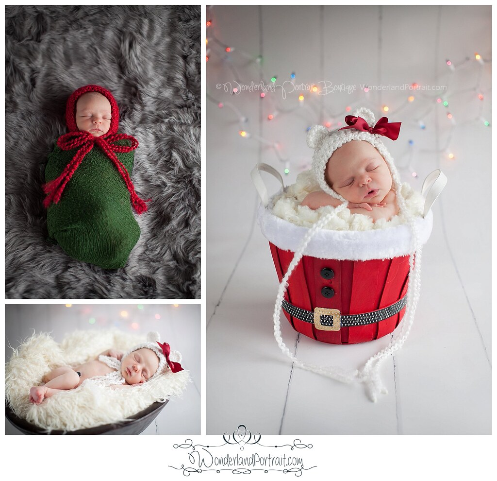 Christmas Newborn Photos Baby's First Christmas Bucks County PA | WonderlandPortrait.com