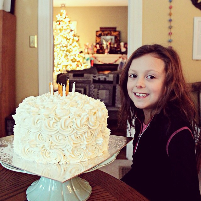 Today my Haila turns EIGHT!! Due to a nasty cold we're celebrating at home quietly & simply with a special dinner & a beautiful, fancy cake!
