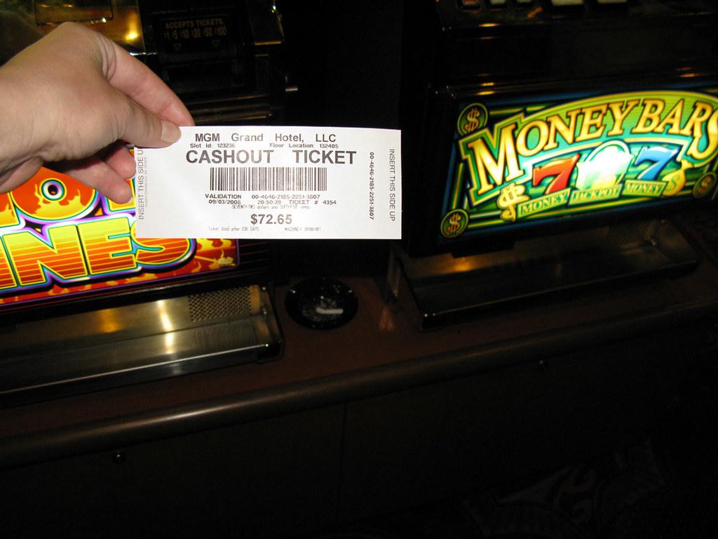 Cashout ticket in Vegas