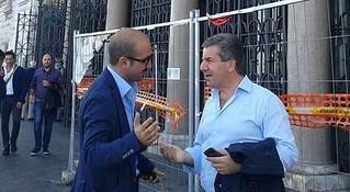 Valenzano e Romagno insieme, durante il voto per la Città Metropolitana