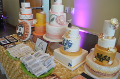 baby shower(0.0), icing(0.0), cake(1.0), buttercream(1.0), yellow(1.0), party(1.0), food(1.0), wedding cake(1.0),