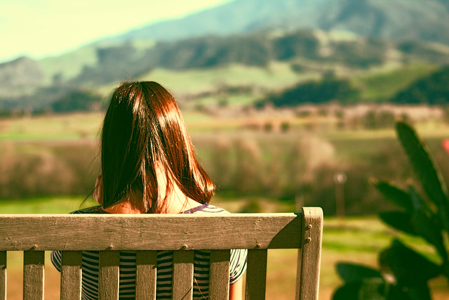 Photo:girl on bench By:Davmi Pics