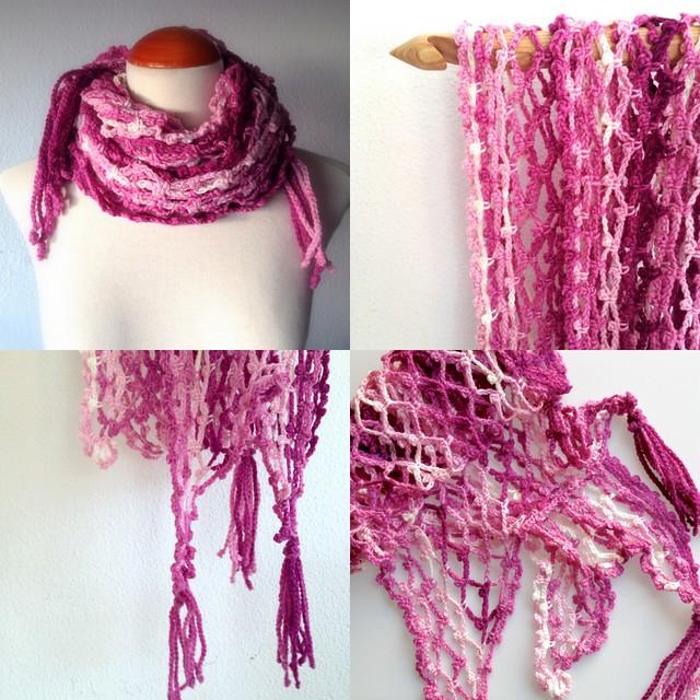 foulard red en tonos rosa