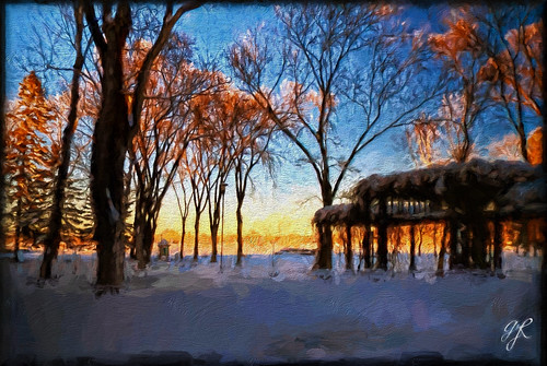winter sunset snow canada art lumix manitoba arbor clearlake cans2s fz200