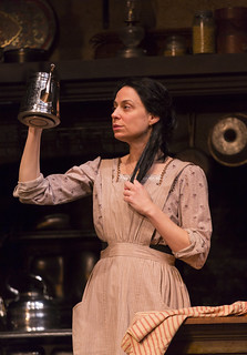 Kathleen McElfresh as Bridget O'Sullivan, the cook, in the Huntington Theatre Company production of the moving Irish drama The Second Girl by Ronan Noone, directed by Campbell Scott, playing January 16 – February 21, 2015 at the South End/Calderwood Pavilion at the BCA.  Photo: T. Charles Erickson