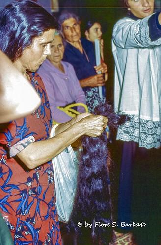 San Sosti (CS), 1975, Pellegrinaggio e festa per la Madonna del Pettoruto.
