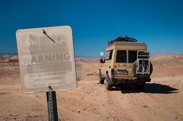 Entering the Carrizo Aerial Gunnery Range on the Old Overland Stage Route