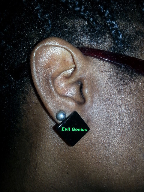 evil genius earrings finished