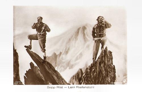 Leni Riefenstahl and Sepp Rist in Stürme über dem Mont Blanc (1930)