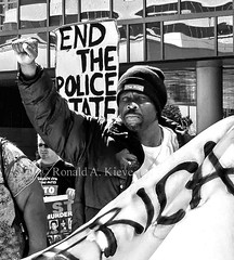 Protesting LAPD Shooting Death of Homeless Man, Los Angeles, CA, March 3, 2015