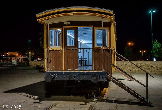 Railcar. Old Jaffa Railway Station