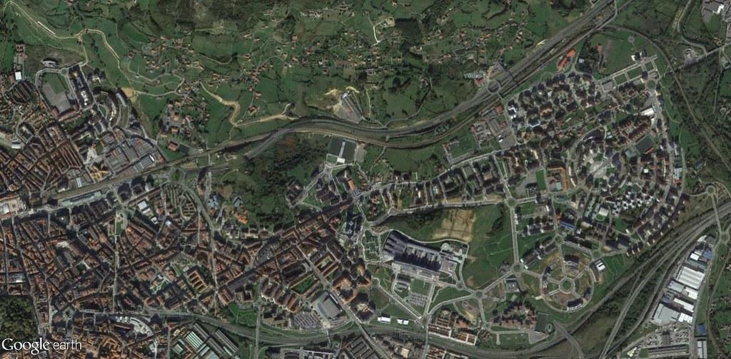 después, urbanismo, foto aérea,desastre, urbanístico, planeamiento, urbano, construcción,Oviedo (norte), Asturias