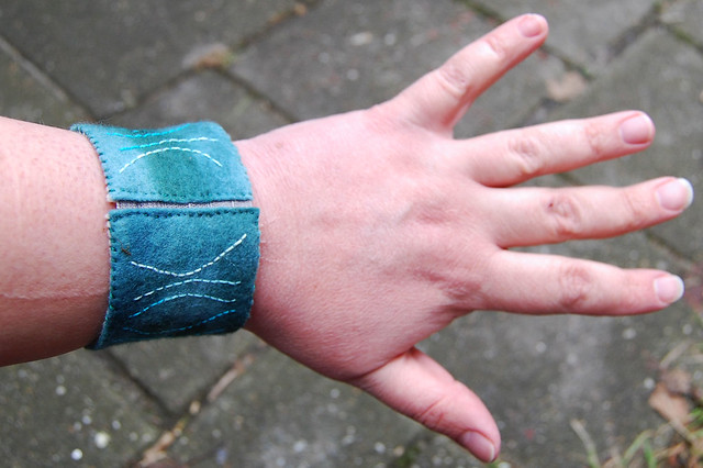 Cuff #10 - on the wrist (close)