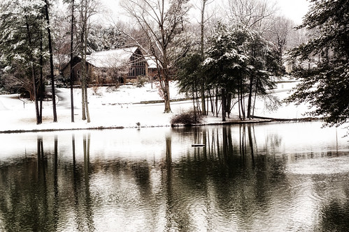 winter lake snow landscape photography raw northcarolina february gastonia heatherlock dorameulman