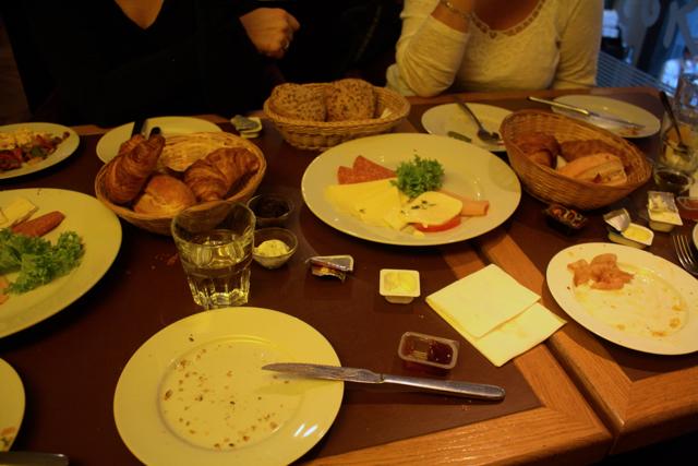 Traditional German breakfast at Roses in Bonn, Germany