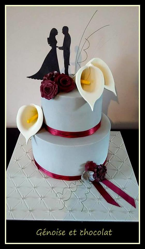 Wedding Cake from France by Génoise et chocolat