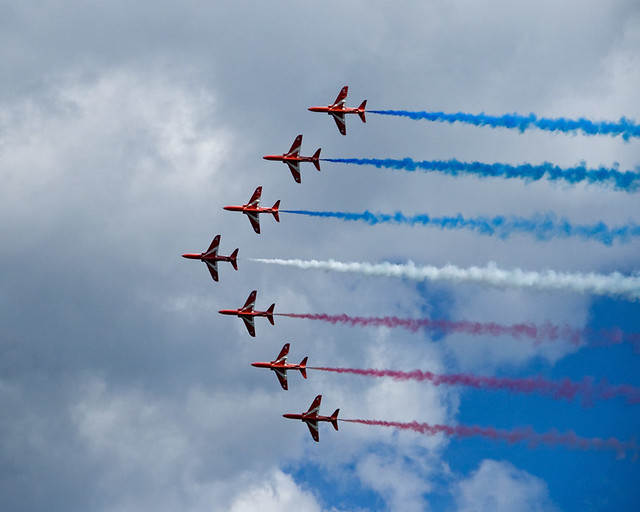 Red Arrows over South Shields