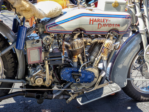 Historic Harley Davidson Motorcycle