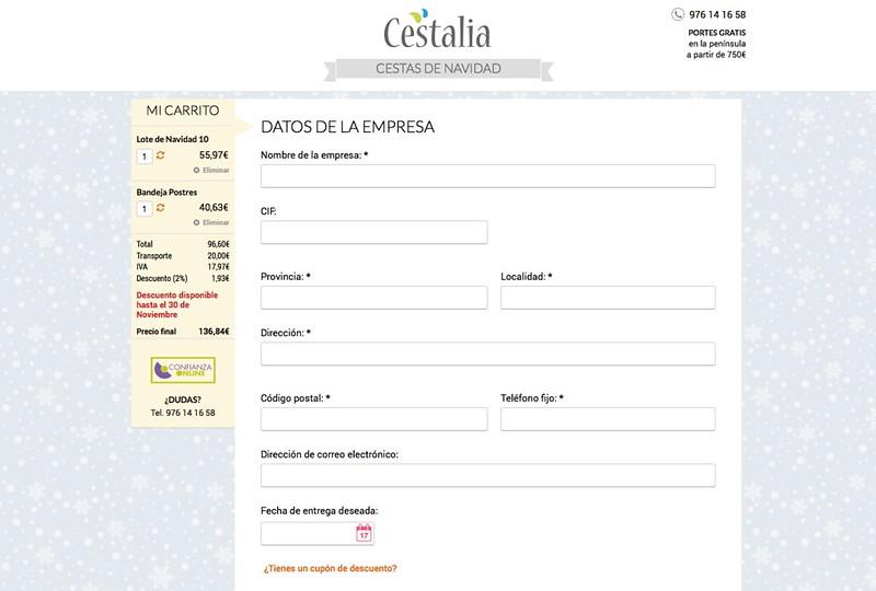 DV Cestalia Checkout