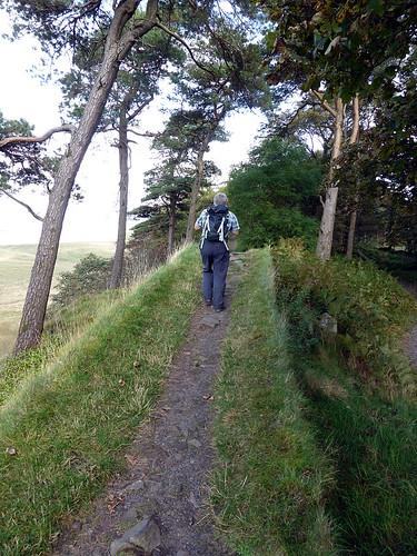 Mark Richards walking on Hadrian's Wall