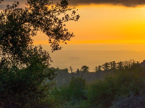 city winter sunset orange nature skyline canon landscape outdoors december hiking powershot pacificocean southerncalifornia arcadia sangabrielmountains angelesnationalforest s100 mountwilson chantryflats losangelescounty upperwintercreek