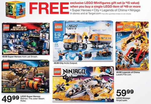Target LEGO Minifigure Gift Set Promotion