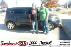 Congratulations to Ronda Flanigan on your #Kia #Soul purchase from Don  Weintraub at Southwest KIA Rockwall! #NewCar