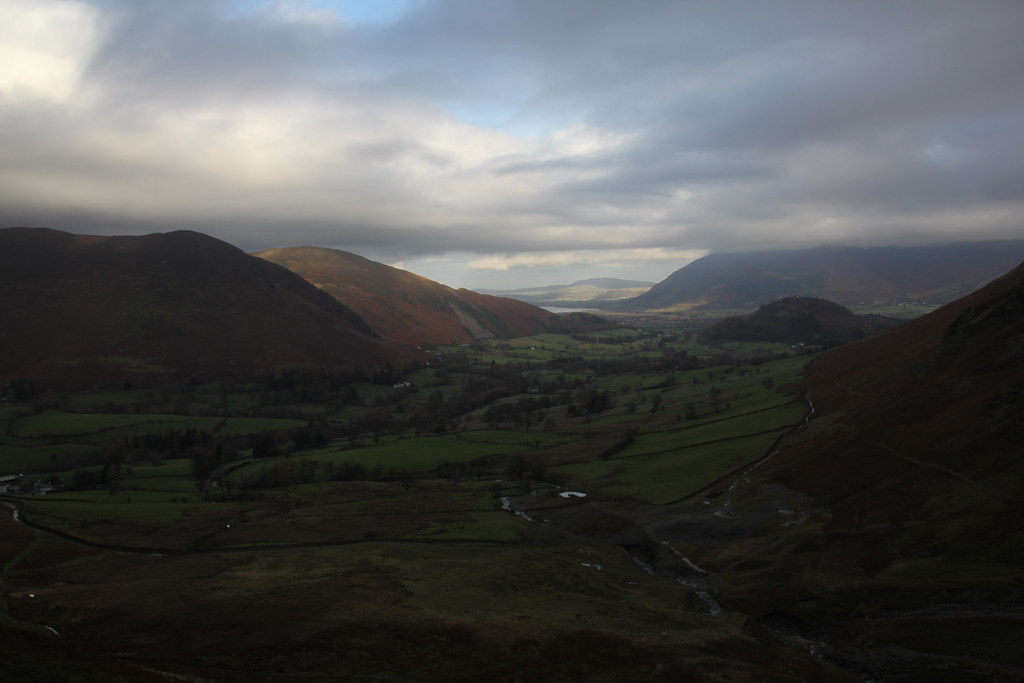 newlands valley, littletown farm, bull crag, maiden moor, high spy, tongue gill, castle crag