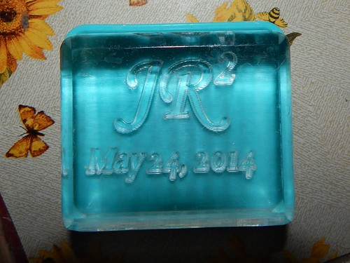 Soap stamp top