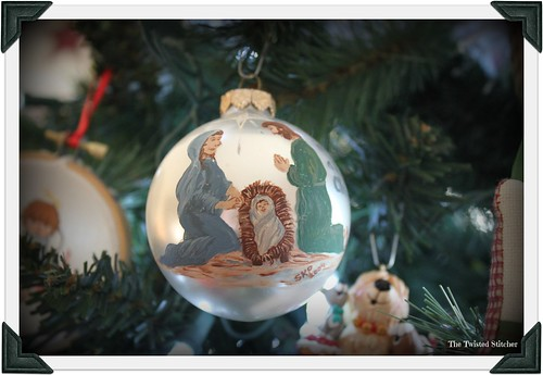 Susan's Holy Family painted ornament - Copy