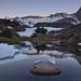 Glacial Tarn in the Twenty Lakes Basin by Jeffrey Sullivan