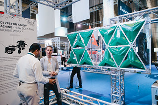 Parametric Hybrid Wall at ITU Telecom World 2014 in Doha | by Ars Electronica