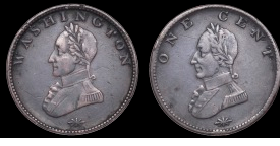Washington double head cent
