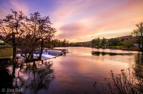 cloud tree water sunrise river dawn derwent sigma 1020 belper weir jimbell rivergardens