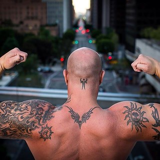 King of LA #drewmoore #dtla #la #portrait #people #urbanportrait #power #muscle #fitness #fit #tattoo #tribetattoo #view #california #canon6d #workout