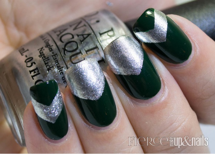 18 fierce makeup and nails matallic