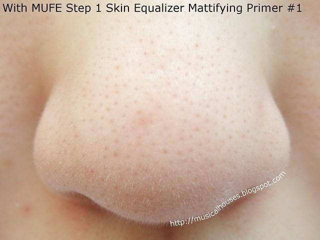 MUFE Step 1 Skin Equalizer Mattifying Primer Nose