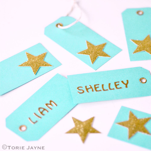 Sparkling star gift tags