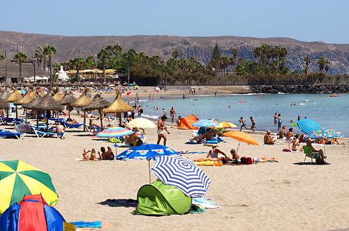 Playa del Camison, August, Playa de las Americas, Tenerife