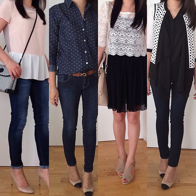 Sharing my #outfits from 2014 #ontheblog. 👯 Link in profile. These are just a few of my favorite looks.