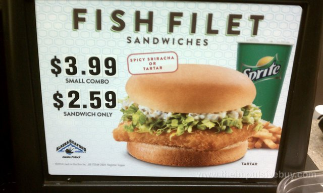 Fast food news jack in the box sriracha fish sandwich for Jack in the box fish
