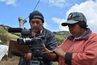 """Irene y Carlos fiman la película """"Ligia""""."""